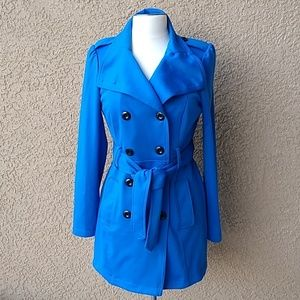 Candies Blue Trench Coat Jacket